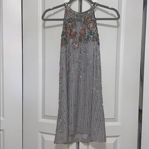 Parker colorful beaded high neck dress